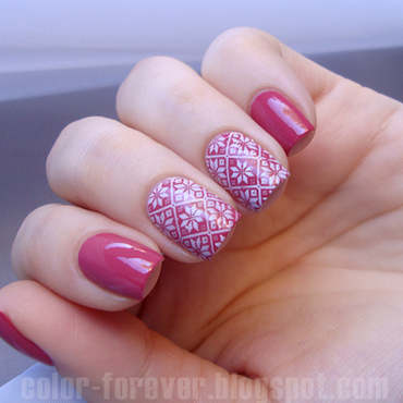 mauve & sweater nail art by ania