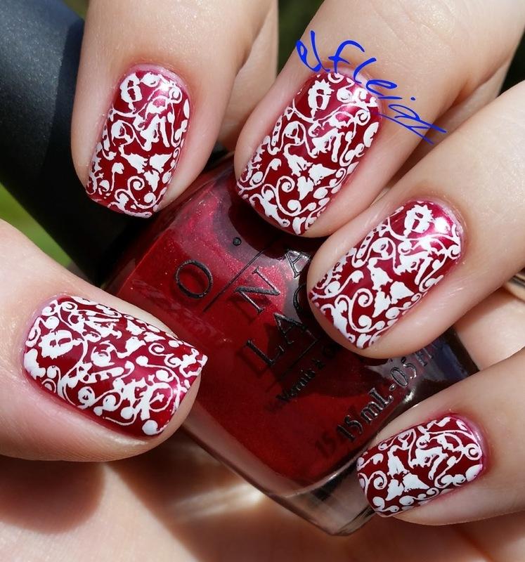30DoCC 12-27-2015 Gifts nail art by Jenette Maitland-Tomblin