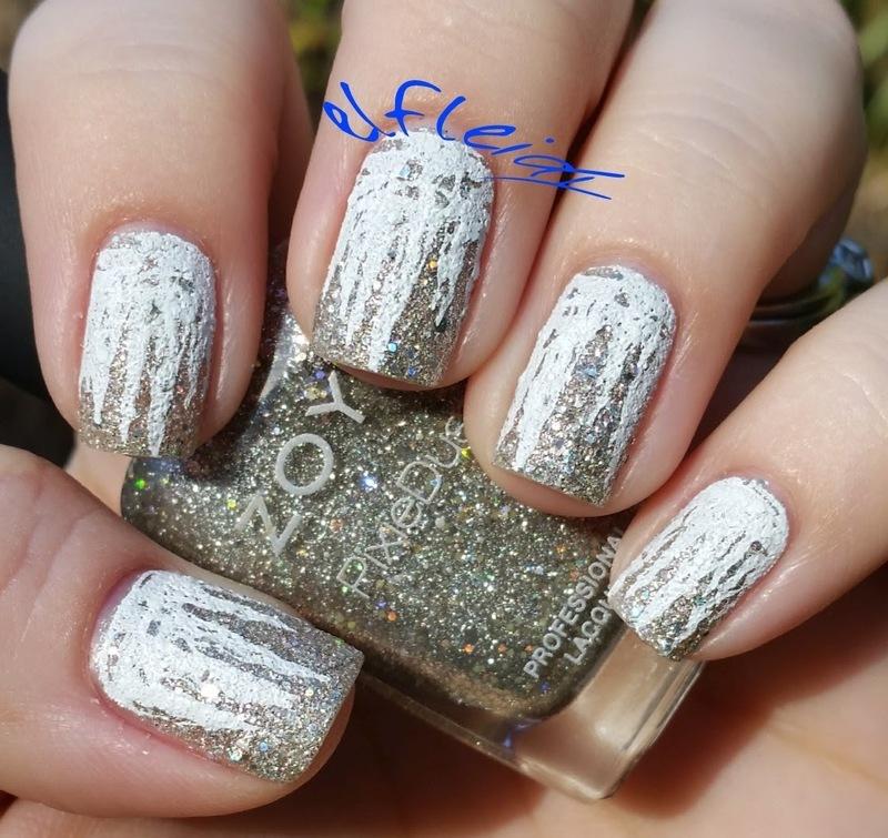 30DoCC 12-29-2015 Icicles nail art by Jenette Maitland-Tomblin