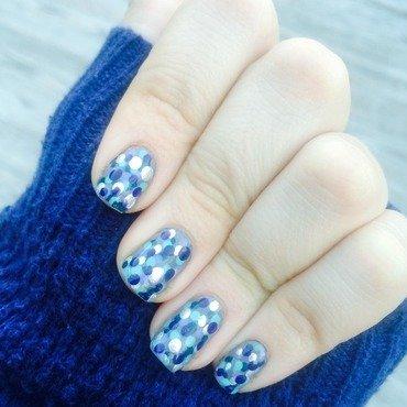 Winter Polka Dots nail art by Madison