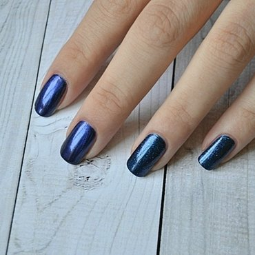Nails Inc Upper brook street and Essence indigo to go Swatch by beautybangtheory