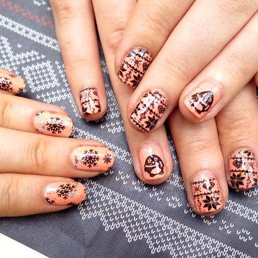 Besties winter nails nail art by theCieniu