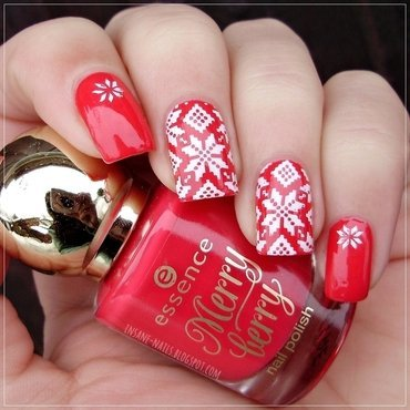 Matching manicures red nails 2 thumb370f