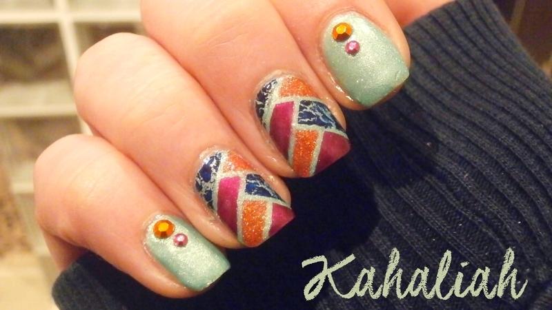 Fishbraid mani nail art by Kahaliah