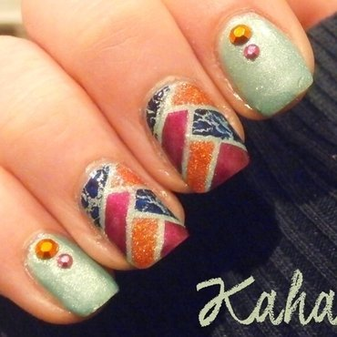 Fishbraid mani nail art by Kahaliah