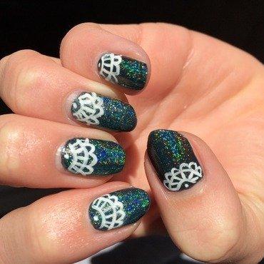 Holo Lace nails nail art by Ella