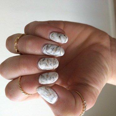 Marble Inspired nails nail art by Ella