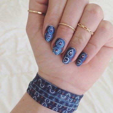 Vera Bradley Inspired Nails nail art by Ella
