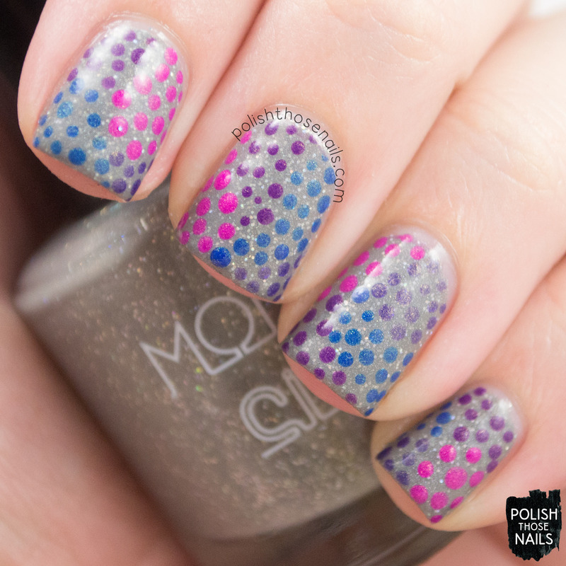 Polka Dotty Dotticure nail art by Marisa  Cavanaugh