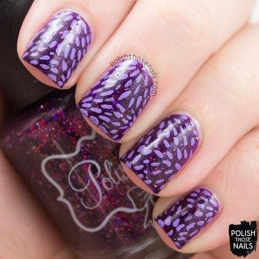 Purple line stripe circle nail art 4 thumb370f