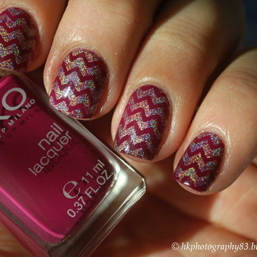 Holo Chevron Nails nail art by Hana K.