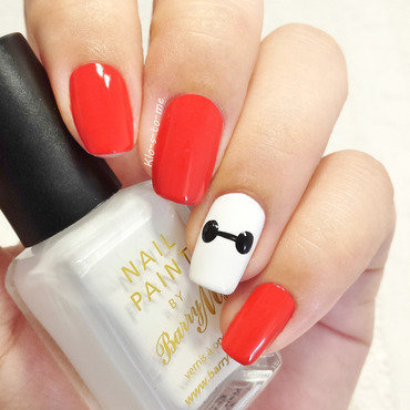 Big Hero 6 : Baymax nail art by klo-s-to-me