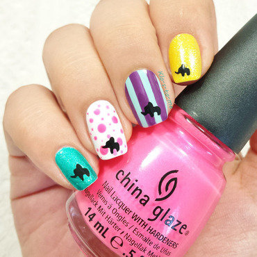 Dumbo : Pink elephants on parade nail art by klo-s-to-me