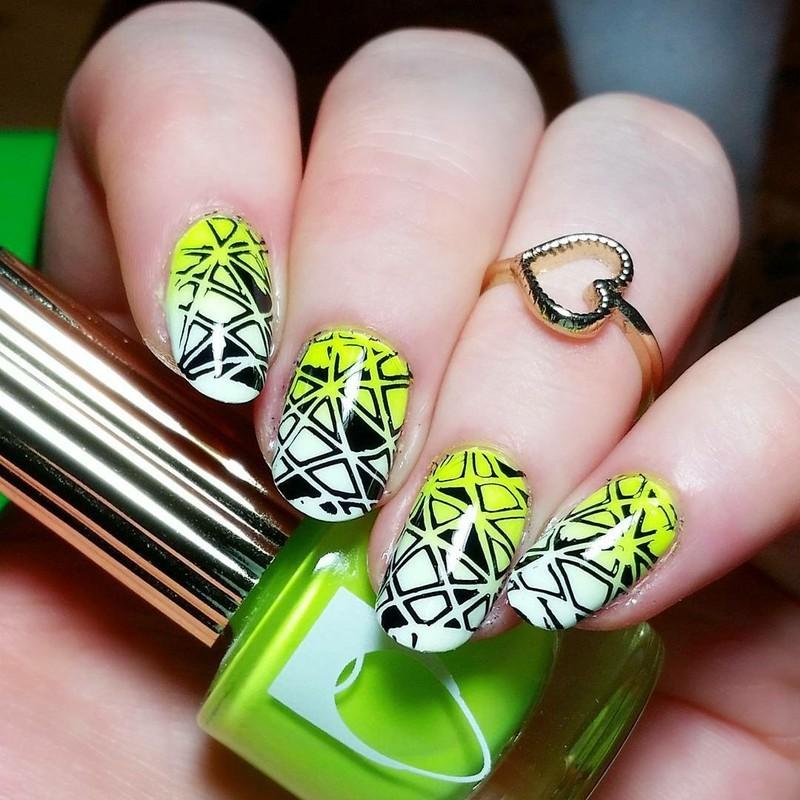 Geometric Stamping Nailart nail art by nailicious_1