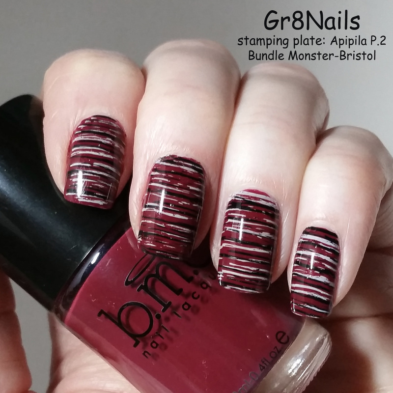 stripes  nail art by Gr8Nails