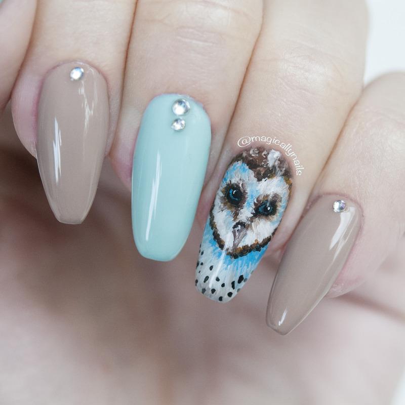 Owl nails nail art by Meya Nina - Owl Nails Nail Art By Meya Nina - Nailpolis: Museum Of Nail Art