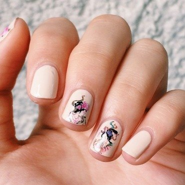 """Ancient Ladies"" Water Decal Nail Art nail art by Lucy (the Nail Snail)"