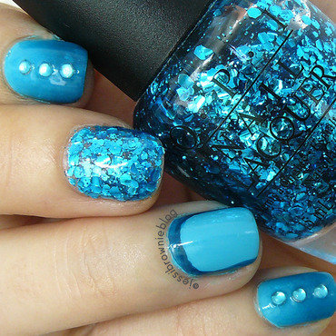 Monday Blues nail art by Jessi Brownie (Jessi)