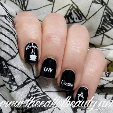 (swear) Words nail art by The Call of Beauty