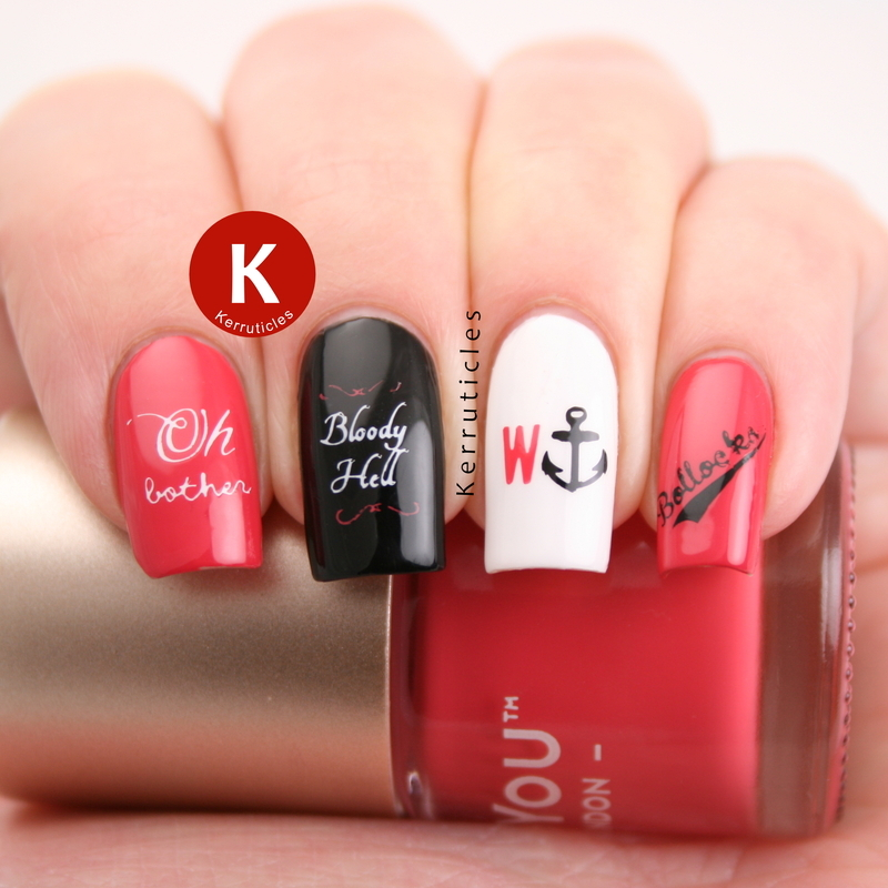 Swear words nails nail art by Claire Kerr