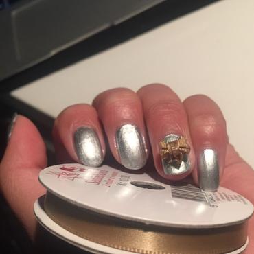Easy nail art with satin bow nail art by OliviaNailArt