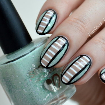 Pastel Stripes nail art by Furious Filer