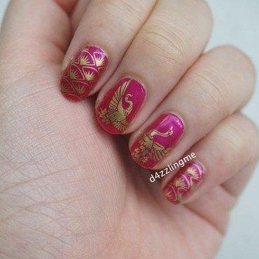 Phoenix Nails  nail art by D4zzling Me