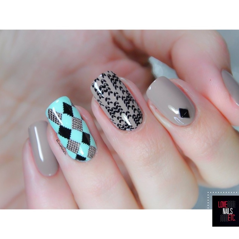 Sweater nail art by Love Nails Etc
