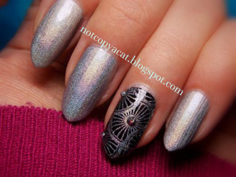 Galaxy mood nail art by notcopyacat