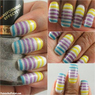 Striped Sporty Jersey nail art by Courtne King