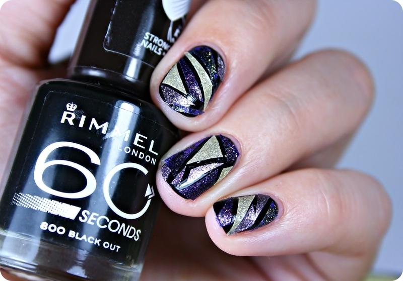 Mosaic Nails nail art by Romana