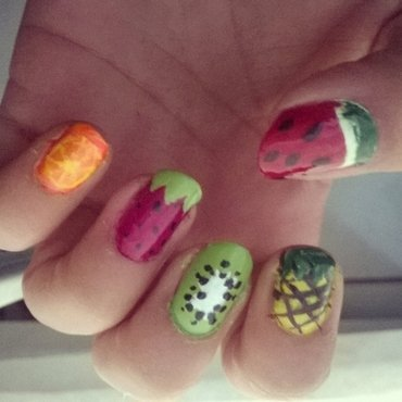 Fruit nails nail art by Luzazul