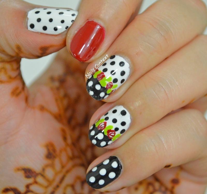 Floral Friday nail art by NailsContext