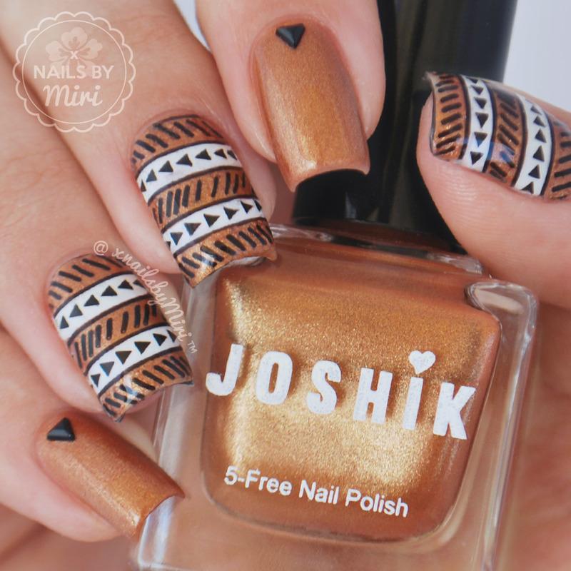 Tribal Stamping nail art by xNailsByMiri