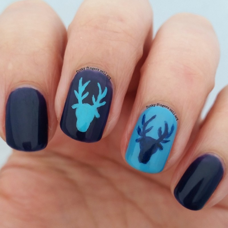 Deer Nails Nail Art By Funky Fingers Nail Art Nailpolis Museum Of