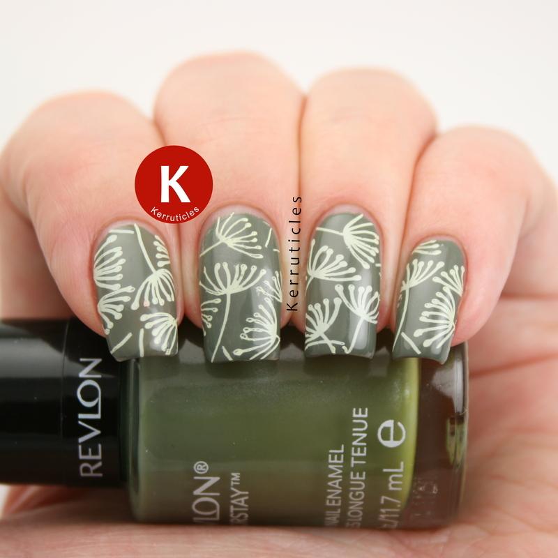 Dandelion nails nail art by Claire Kerr
