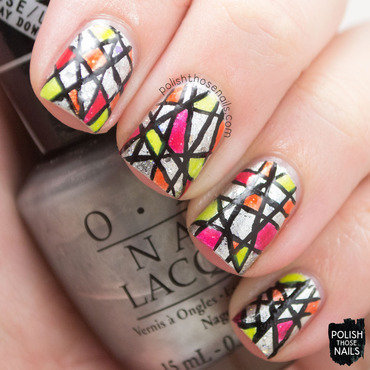 Push & Stain nail art by Marisa  Cavanaugh