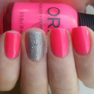 Orly Beach Cruiser and Orly Mirrorball Swatch by Olivia D.