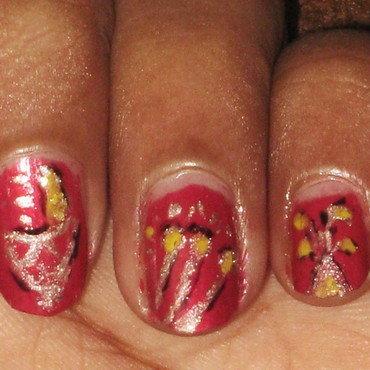 Diwali  nail art by Vaanathi