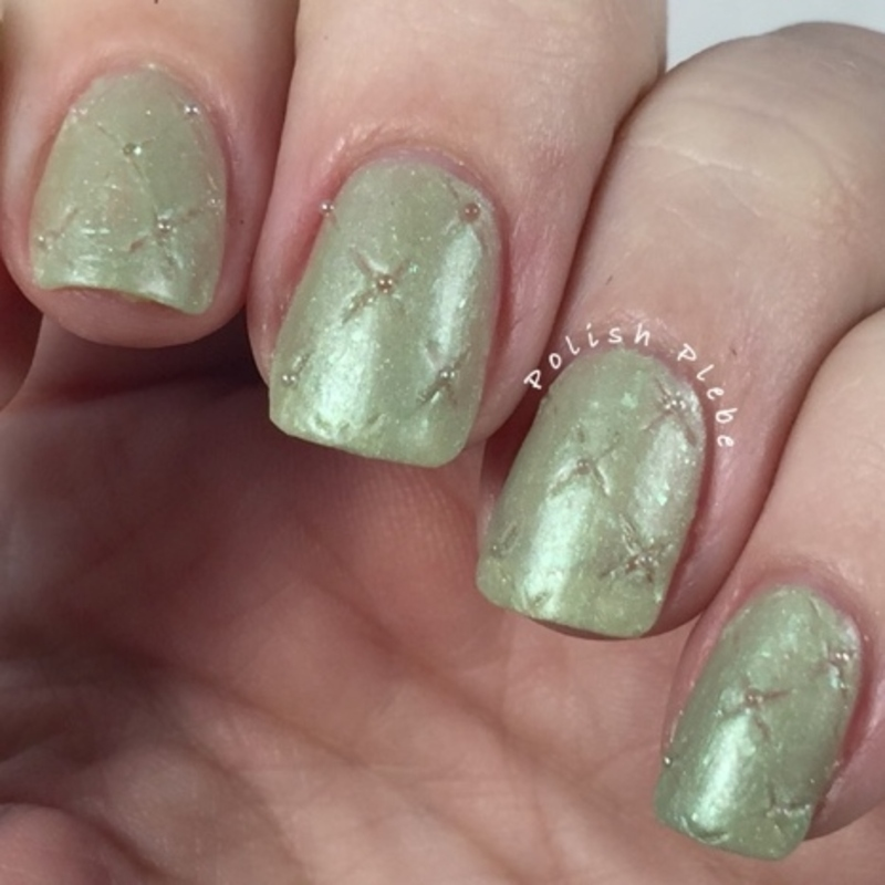 Stitched Quilted Nails nail art by Crystal Bond
