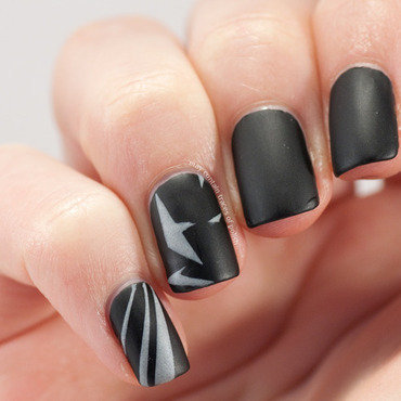 Batman nail art nail art by Zara TracesOfPolish