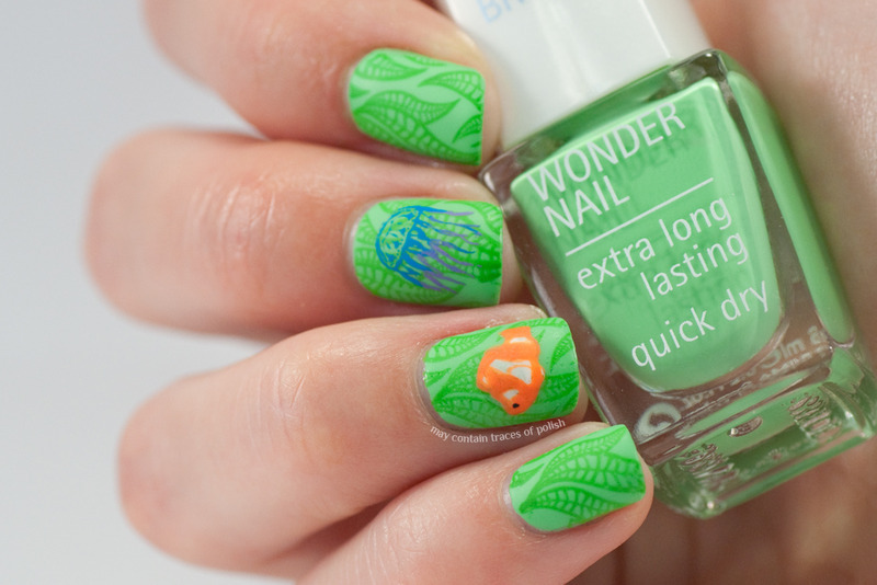 Under the sea nail art nail art by Zara TracesOfPolish