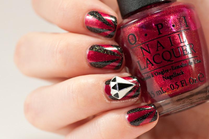 Diamond nails nail art by Zara TracesOfPolish