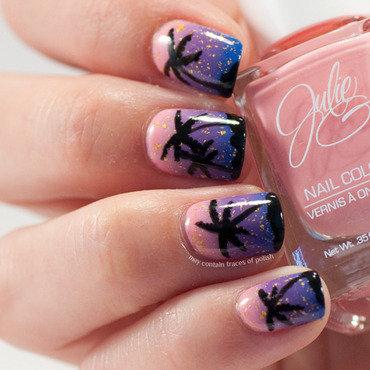 Palmtree nail art nail art by Zara TracesOfPolish