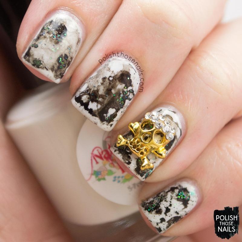Punk Ink nail art by Marisa  Cavanaugh