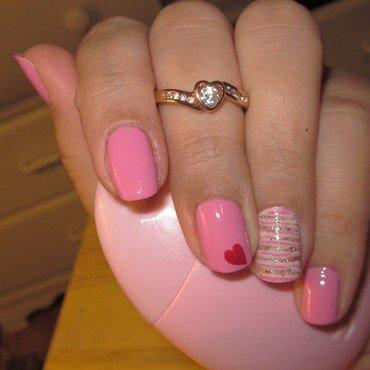 love me nail art by Elyana