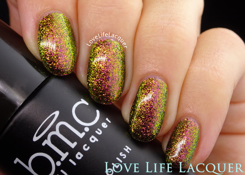 Bundle Monster Copperhead Charm Swatch by Love Life Lacquer