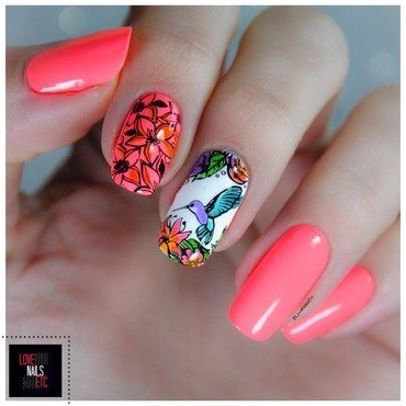 Humming-Brid nail art by Love Nails Etc