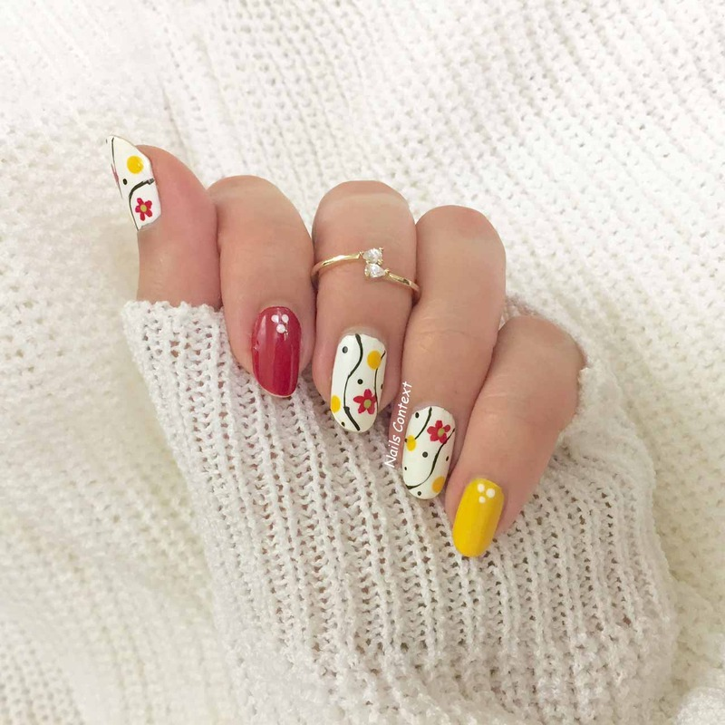 Floral Fun in Winter nail art by NailsContext