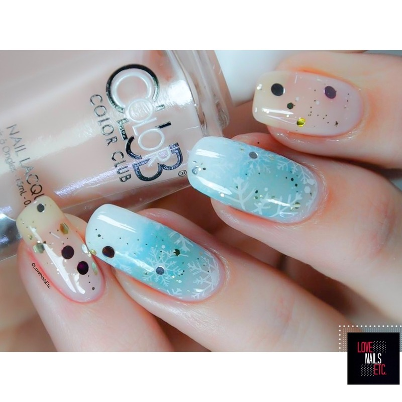 Frosted nail art by Love Nails Etc